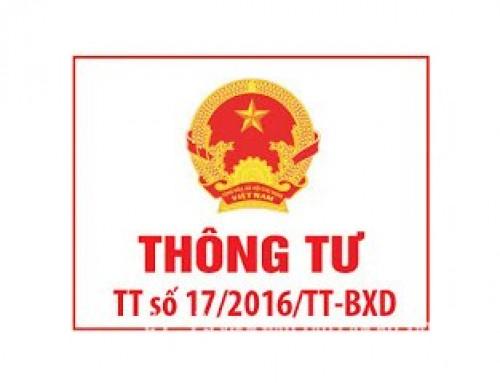 Thông tư 17/2016/TT-BXD năng lực của tổ chức cá nhân tham gia hoạt động xây dựng